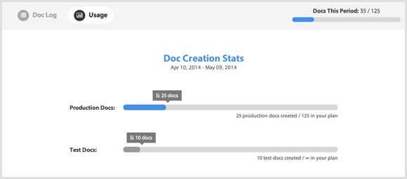 More useful document generation stats